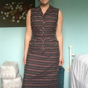 Vintage Seersucker Wiggle Dress